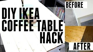 Diy + Tutorial | Ikea Hack | Wooden Coffee Table