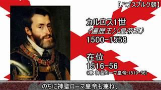 【ゆっくり君主紹介】歴代のスペイン王
