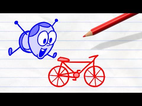 Uneasy Rider | Pencilmation Cartoon #39 Mp3