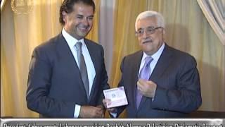 President Abbas grants Lebanese musician Ragheb Alama a Palestinian Diplomatic Passport