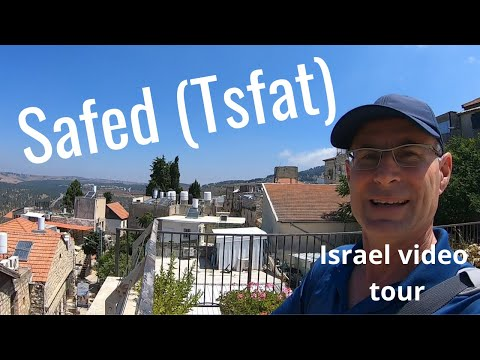 Safed (Tsfat) City In Blue
