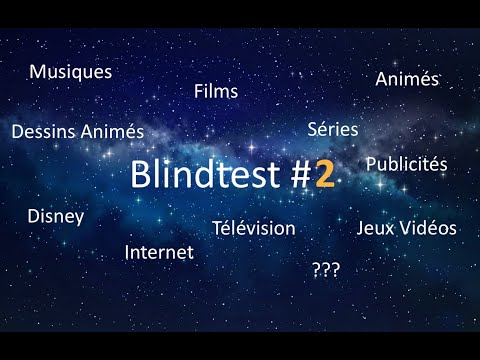 BlindTest 110 Pistes (Films, Séries, Dessins Animés, Télé, Animés, Disney, Jeux, Pubs et autres)