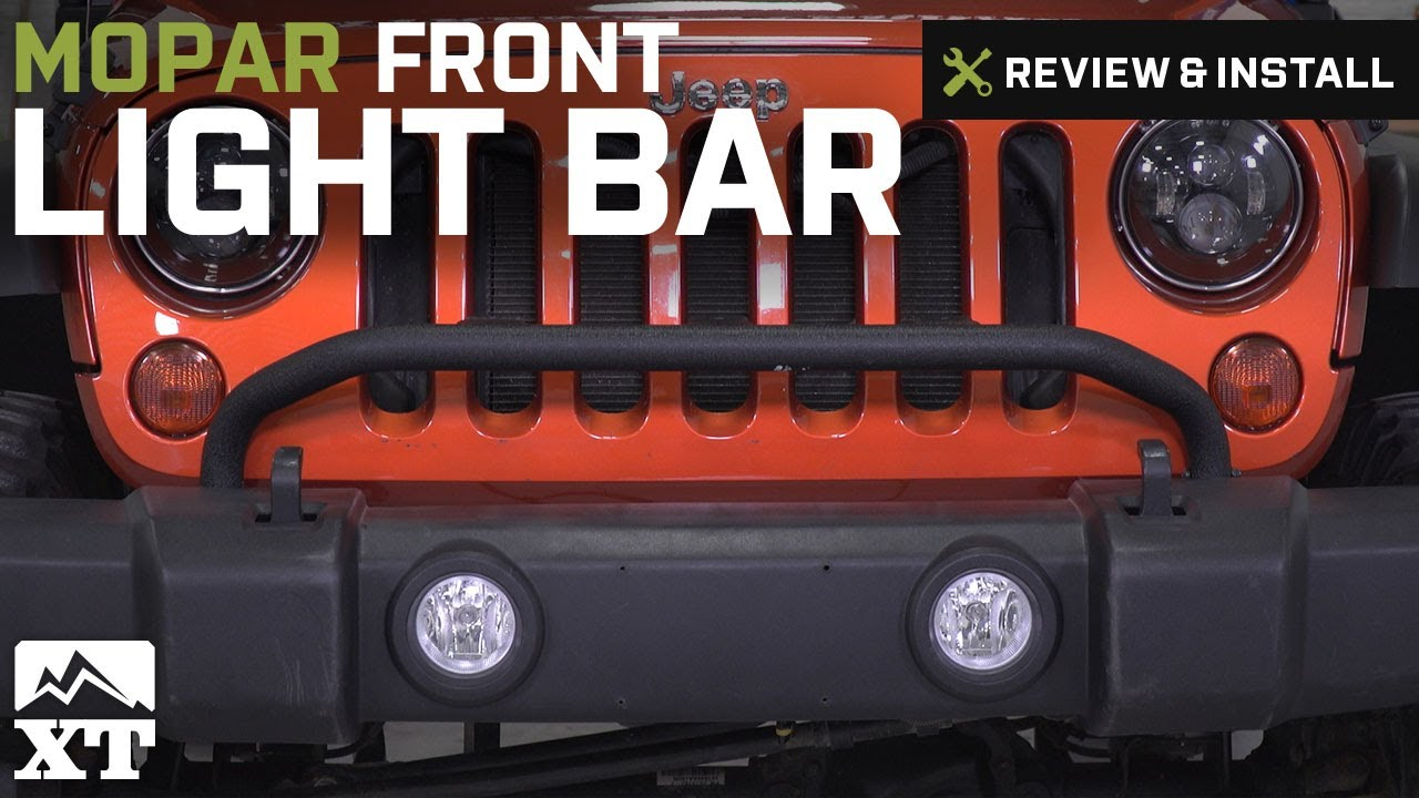 Jeep Wrangler Mopar Front Light Bar 20072017 JK Review Install