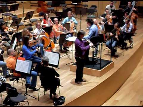 Ramón Ortega Quero, oboe, rehearses with OSCyL