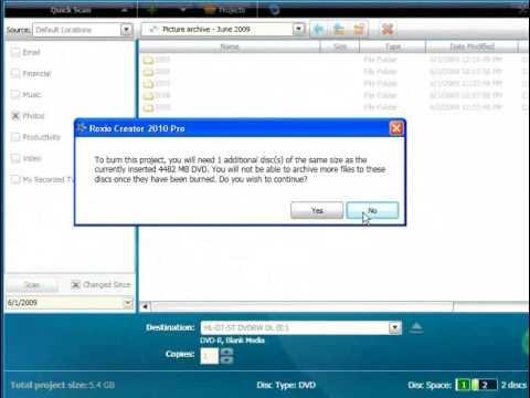 How to Burn a Data DVD Using Roxio Creator 2010