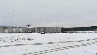 В Верхней Салде сел вертолёт, 19.02.2018