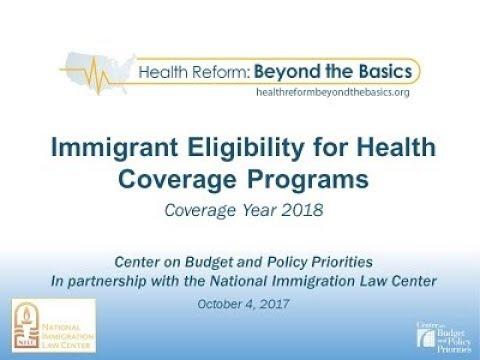 CBPP OE5 Webinar: Immigrant Eligibility for Health Coverage Programs
