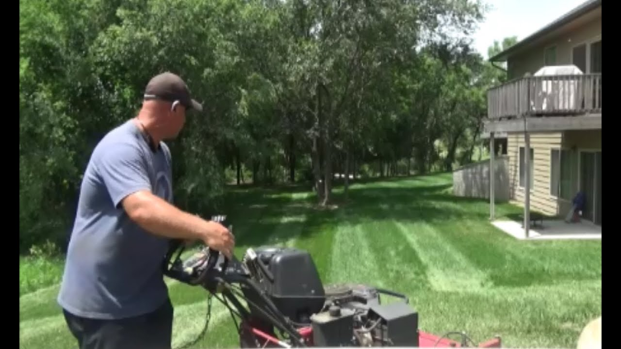 Lawn Striping and Snakes, Lawn Care Vlog #20 - YouTube