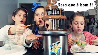 DESAFIO DA CASCATA DE CHOCOLATE - Mileninha