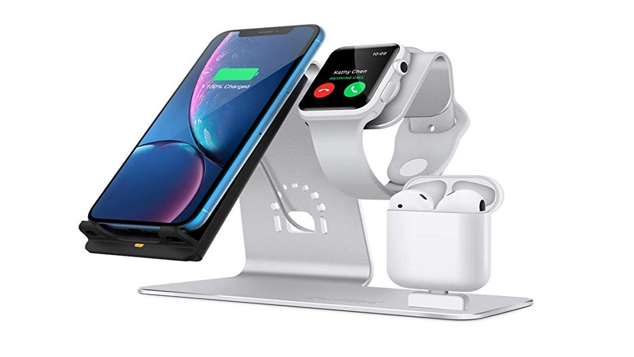 Top 3 in 1 Wireless Charger for iphone Xs, Apple Watch Series 4 & Airpod 2!