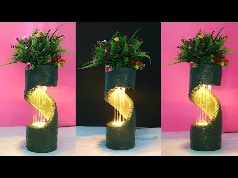 DIY Tabletop water fountain made from waste materials at home|art and craft|पाइप से बना पानी फव्वारा