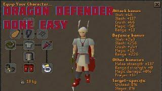 OSRS - Dragon Defender Done Easy - Framed