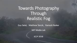 MIT Media Lab, Camera Culture Group - Seeing Through Fog