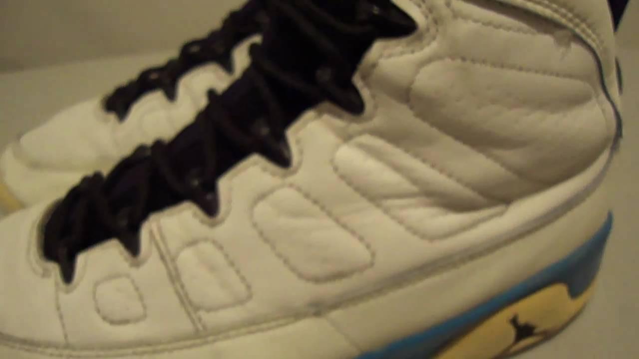 97b19a4322f1a6 Nike Air Jordan 9 Original Dark Powder Blue 1993 IX OG - YouTube