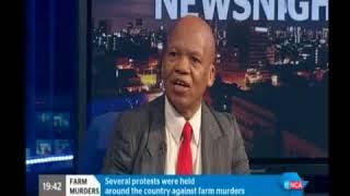Commissioner Jonas Sibanyoni on ENCA speaking about Farm Killings
