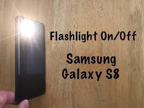 How to Turn flashlight on/off Samsung Galaxy S8