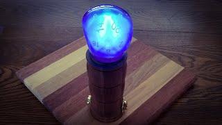 Woodturning a  D&D Night Light - Resin Art