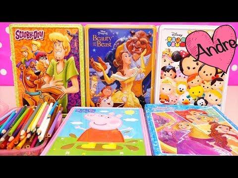 Dibujos para colorear para niñas y niños de Scooby Doo Bella y Bestia Peppa Pig | Juguetes con Andre