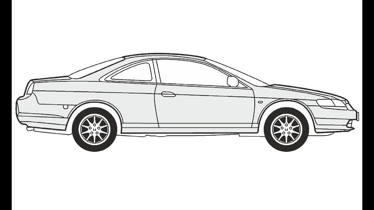 how to draw a honda car