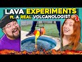 Adults React To Explosive Volcano Lava Experiments (Watermelon, Dry Ice and Orbeez)