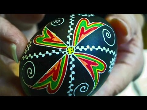 Learn How to Dye & Color Easter Eggs - Decorate Ukrainian Ukraine Pysanky Pysanka Beginner Egg