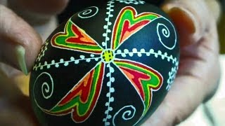 Repeat youtube video Learn How to Dye & Color Easter Eggs - Decorate Ukrainian Ukraine Pysanky Pysanka Beginner Egg