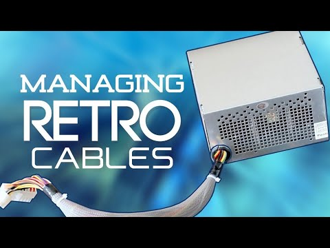 Retro PC Case Cable Management | How to Sleeve an Old Non-Modular PSU, Ribbon Cable Management