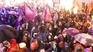 Dünya Emekçi Kadınlar Günü 12. Feminist Gece Yürüyüşü. International Working Women's Day. 8 03 2014