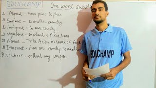 Vocabulary Trick- One Word substitution confusing word, ENGLISH Class 1- 20th Sept 2018