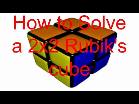 2X2 Rubik's Cube Tutorial (easy)