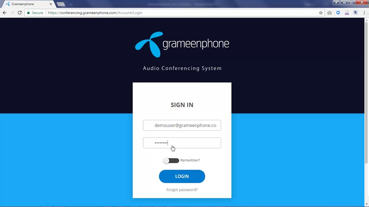 1 How to Login: Grameenphone Audio Conferencing