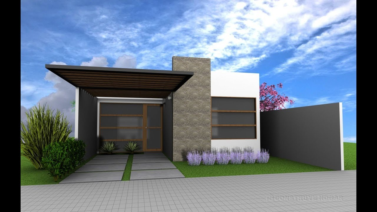 Ideas de casas para construir en terreno peque o youtube for Casas modernas para construir
