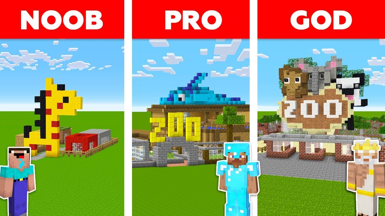 Minecraft NOOB vs PRO vs GOD: ZOO PARK in Minecraft / Funny Animation thumbnail