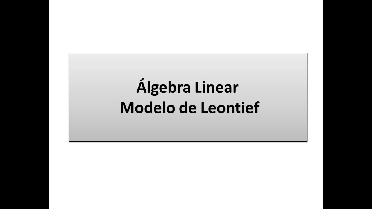 MODELO DE LEONTIEF PDF DOWNLOAD