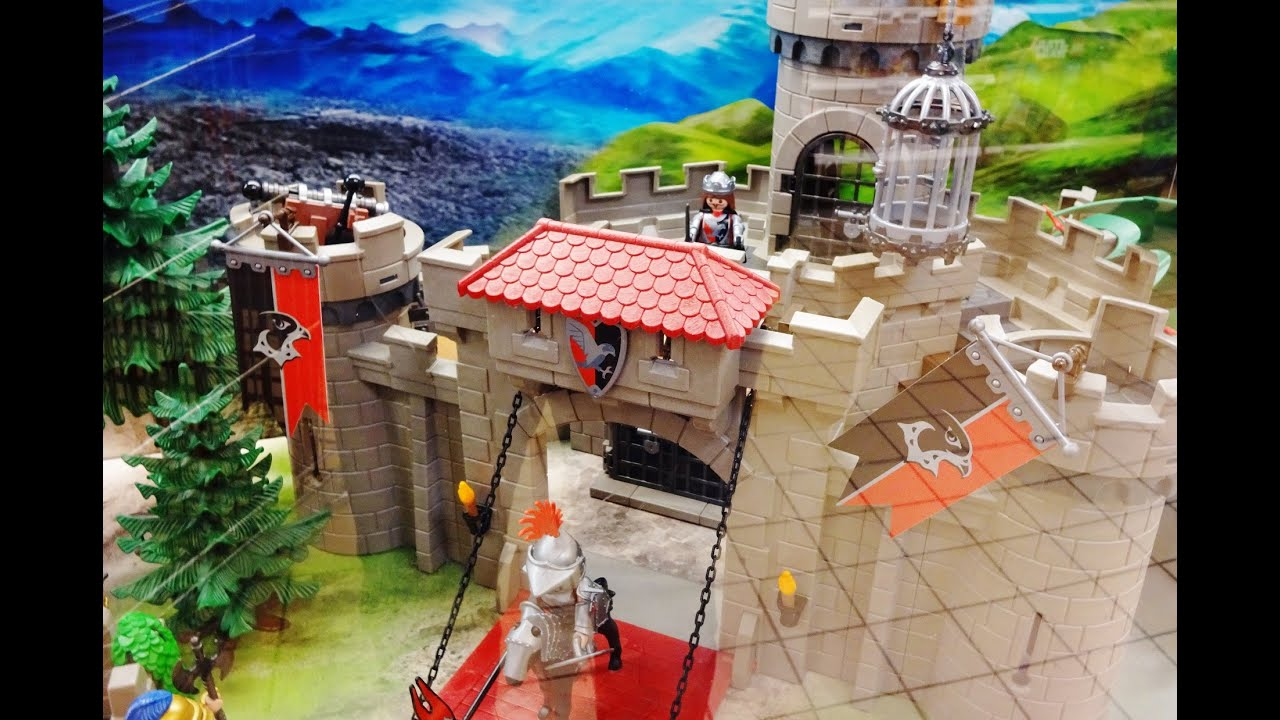 Playmobil 2018 knights chevalier chateau fort 6001 youtube - Chateau chevalier playmobil ...