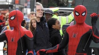 Spiderman : Far From Home New Red & Black Suit Leaked! | Set Footage of the New Red & Black Suit |