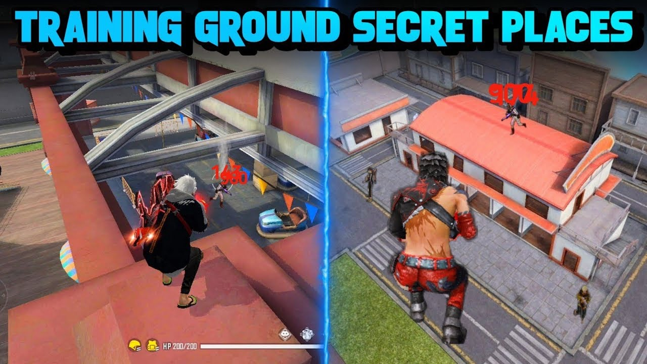 Download TOP 10 HIDDEN PLACES IN TRAINING GROUND FREE FIRE | CLIMB BIG HOUSE IN TRAINING - BROKEN JOYSTICK