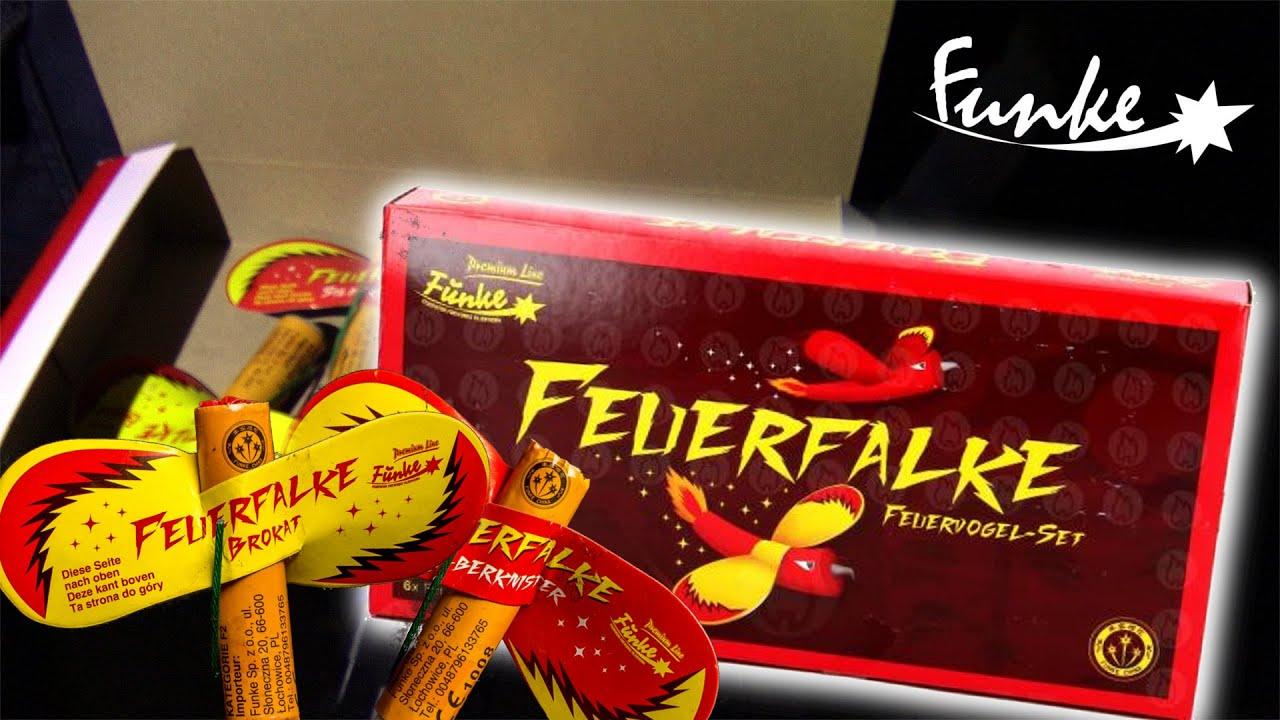 FUNKE FEUERFALKE | Feuervogel-Set mit Brokat- und Silberknistereffekt | Planet Firework