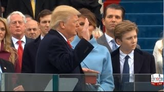 Repeat youtube video Donald Trump Sworn in as 45th President of the United States 1/20/17