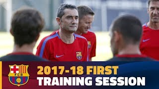 First training session of the Valverde era