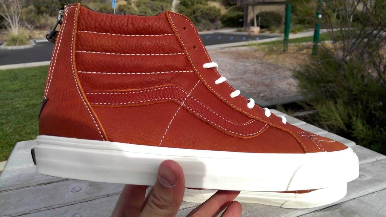 cdbb7d1d7f525b Shoe Review  Vans CA  Boot Leather  SK8-Hi Zip (Henna) - YouTube