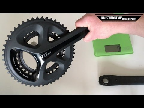 220a1192159 Shimano 105 Crankset Unboxing and Weight 5800 - YouTube