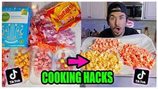 Get Screenshots for video :: We TASTED Viral TikTok Cooking Life Hacks... (Life Changing) *Part 5*