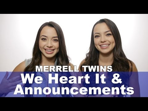 We Heart it and Announcements - Merrell Twins