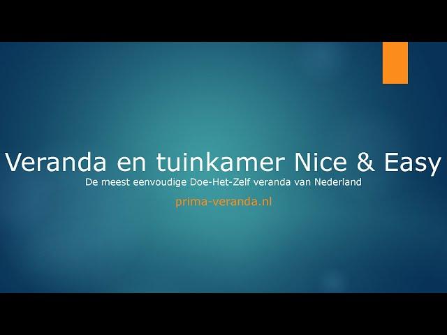 Opmeetinstructie Veranda en tuinkamer Nice & Easy