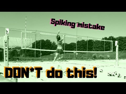 Common Beach Volleyball Hitting Approach Mistake