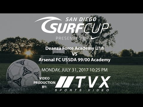 SURF CUP SAN DIEGO 2017 Deanza Force Academy U18 VS Arsenal FC USSDA 99/00 Academy 10:25AM