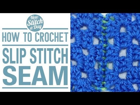 How To Join Stitches When Knitting In The Round : How to Crochet the Slip Stitch Seam - YouTube