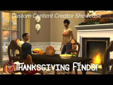 Sims 4 Custom Content Creator Showcase: Thanksgiving Goodies!