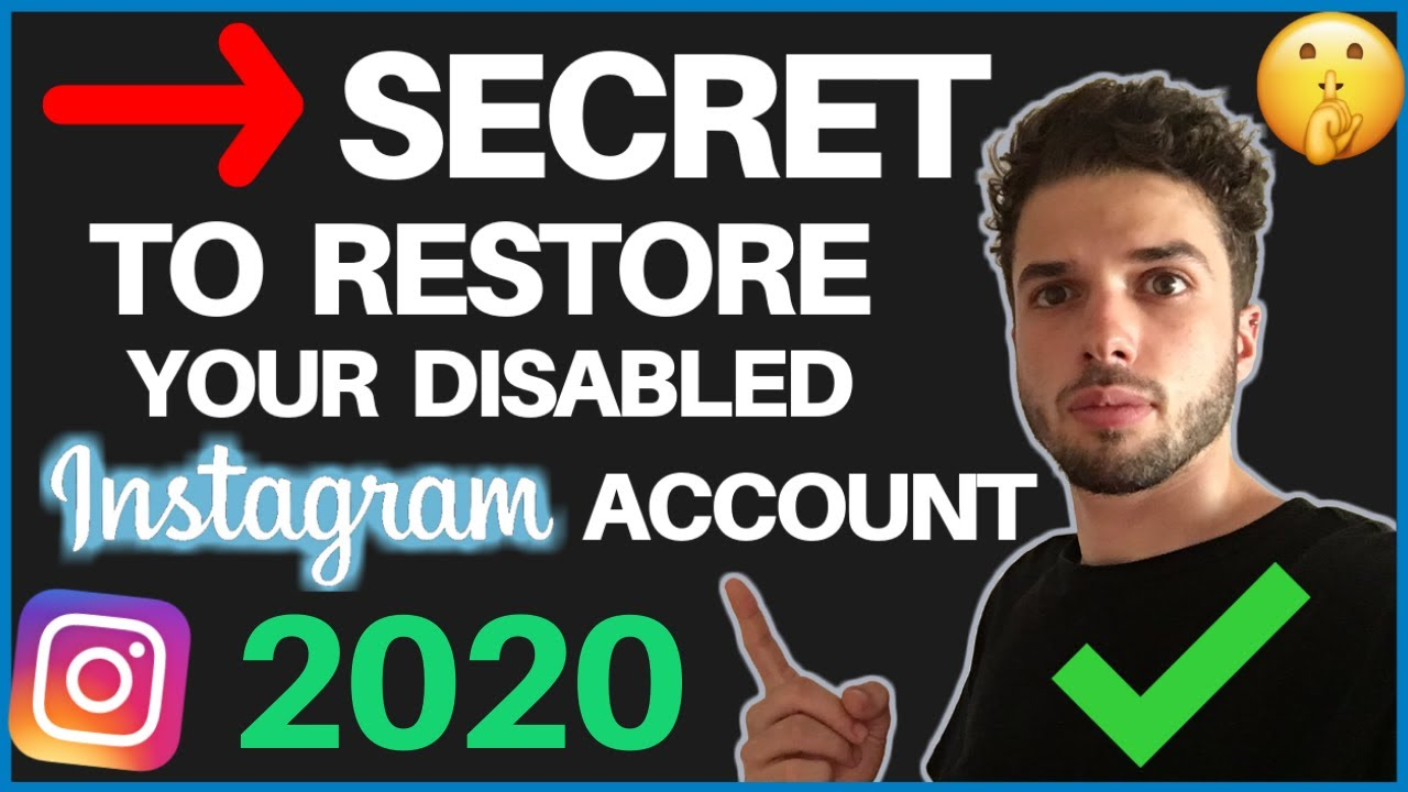 HOW TO RESTORE YOUR DISABLED INSTAGRAM ACCOUNT 2019 [100% GUARANTEED  SUCCESS RATE]